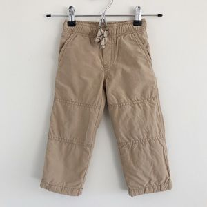 Gymboree Khaki Pants with Gray Built-in Lining 2T
